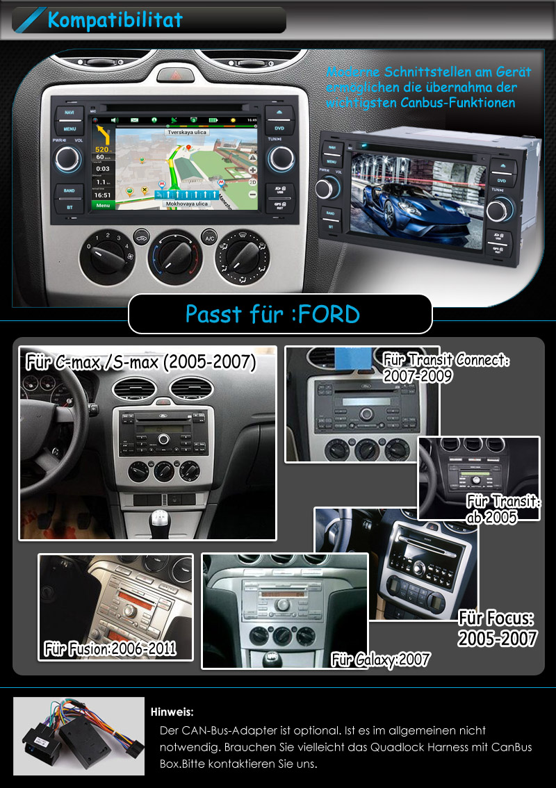 autoradio navi gps auto dvd mp3 3g usb bt navigation f r. Black Bedroom Furniture Sets. Home Design Ideas