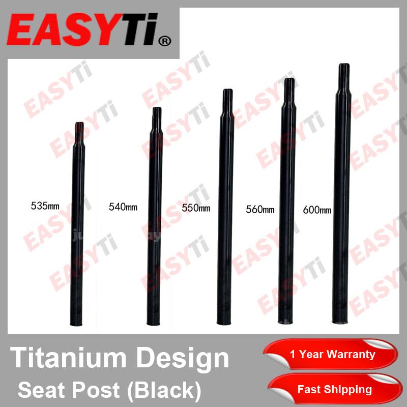 Ti Atom Titanium GR9 31.8x535//550//560//580//600MM  Seatpost Seat Post For BROMPTON