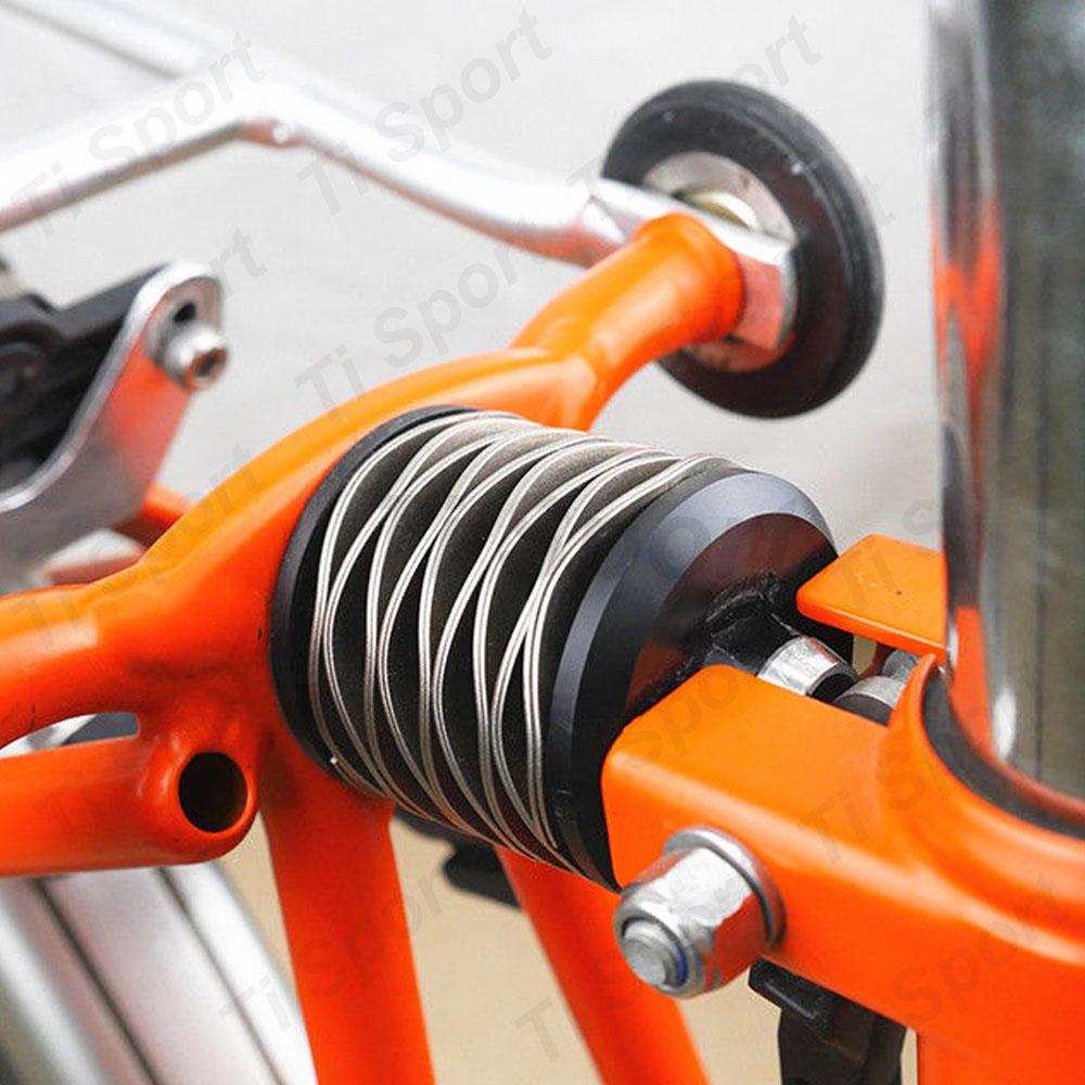 Ti Atom Titanium Axle Rear Spring Suspension Shock For Brompton Fold Bike