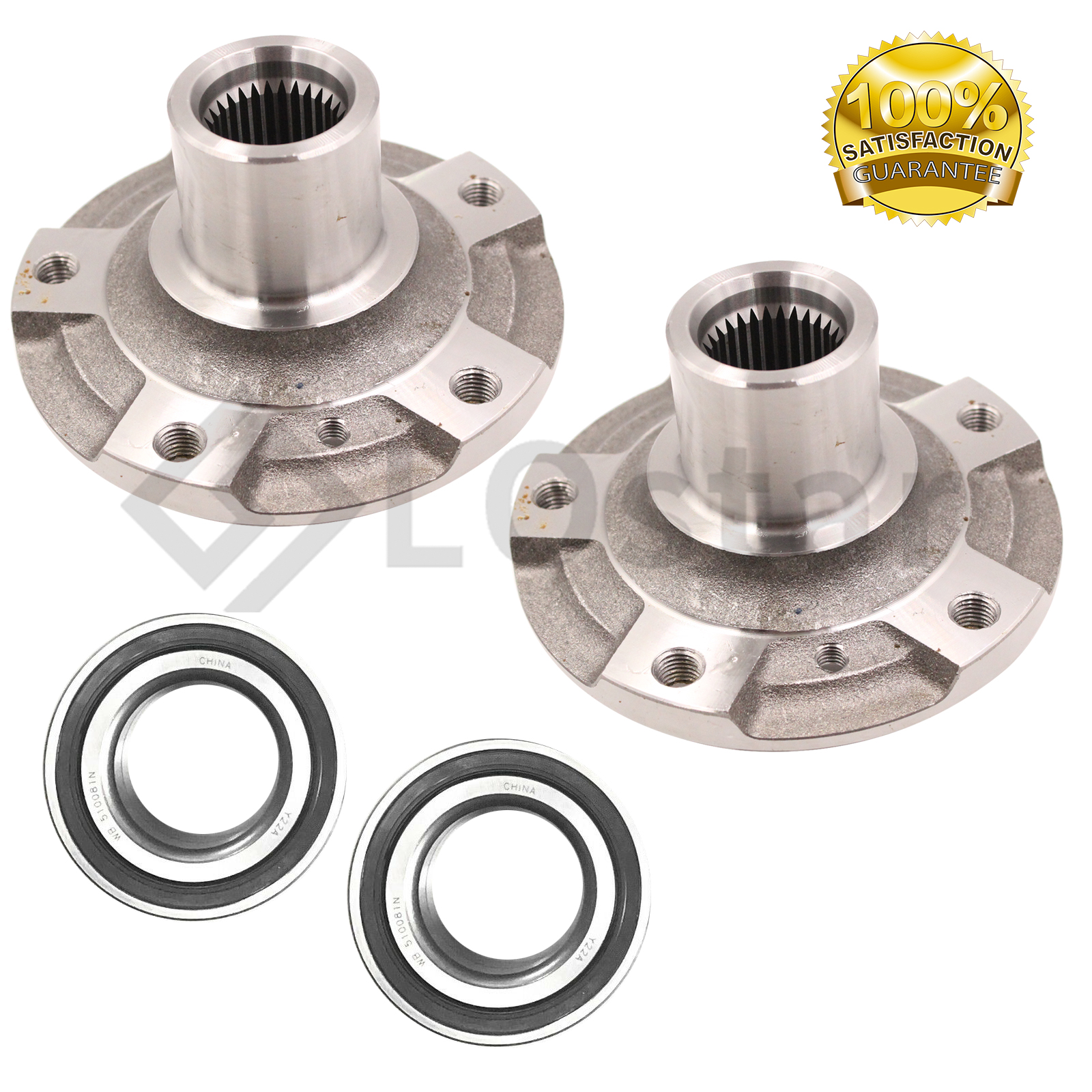 Included with Two Years Warranty Left and Right Note: 3 Bolt Mounting Flange - Brake Code 1ZF FWD - Two Bearings 2007 fits Volkswagen Rabbit Front Wheel Bearing and Hub Assembly