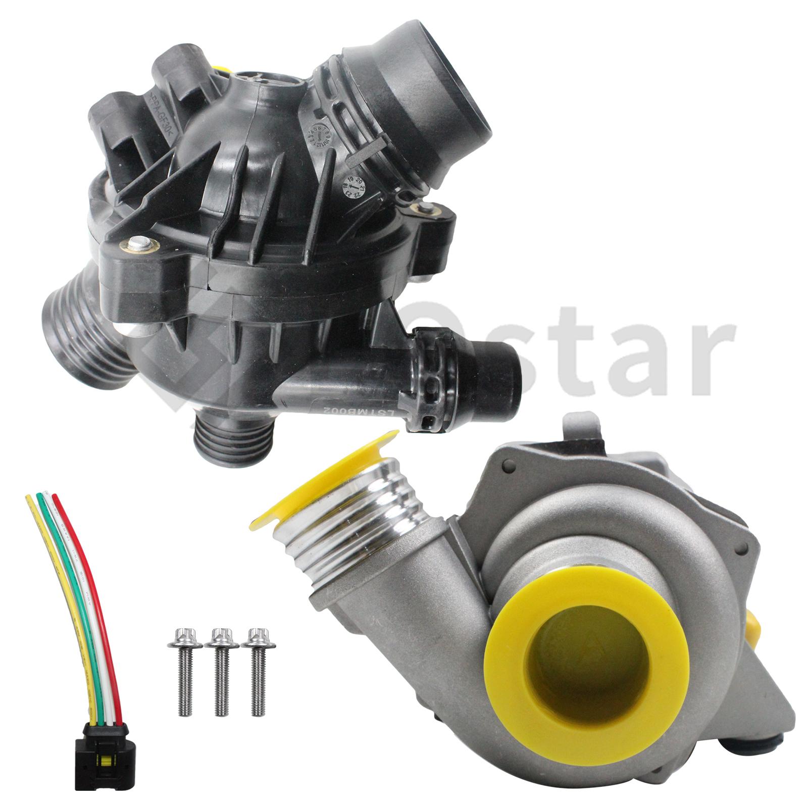 Water Pump W/Thermostat &Bolt 11517586925 Fits BMW 128i