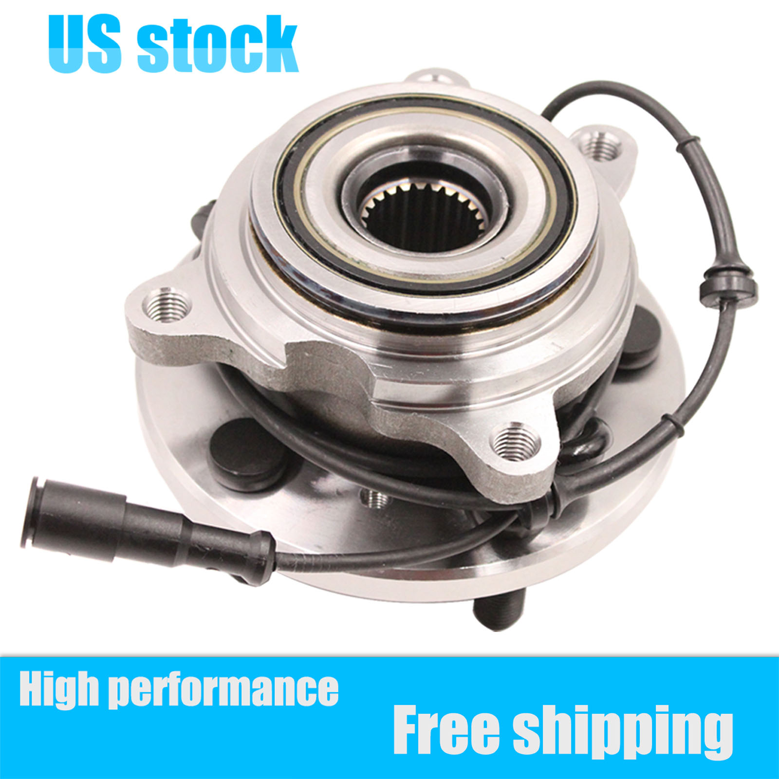 2 Pair Rear Wheel Hub /& Bearing Assembly Fits Land Rover Discovery 1999-2004