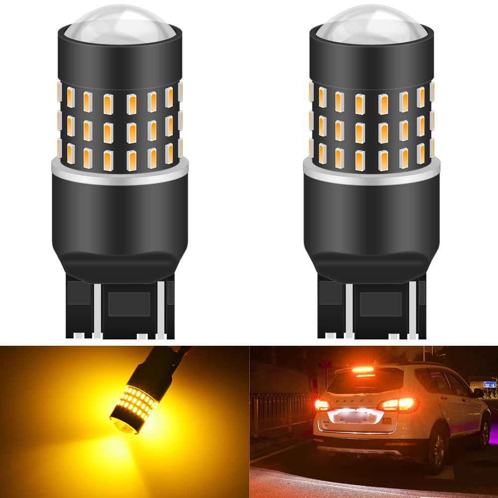 2pcs High Power 7443 7440 7444NA Red 6-Cree-XB-D LED Stop Tail Brake Light Bulbs