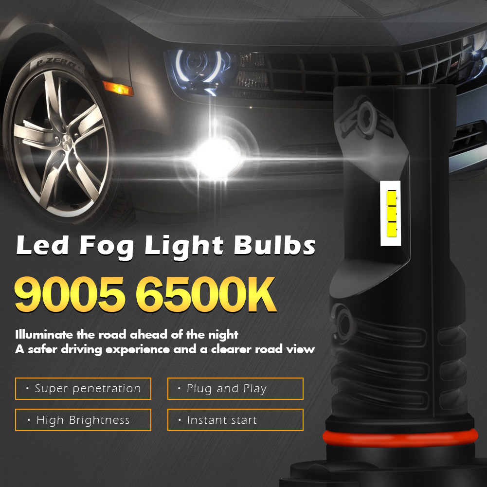 Nighteye H1 H3 H4 H7 H11 9005//6 Auto Car LED Fog Light Bulb Driving Lamp 6500K