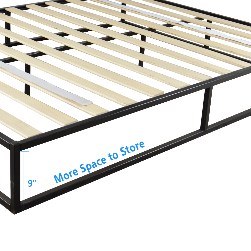 Queen Size Home Hotel Simple Basic Iron Bed Metal Platform