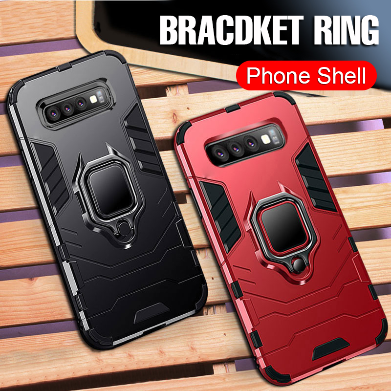 DAMONDY Case for Galaxy S10 Ring Kickstand Shockproof 360 Degree Rotating Ring Drop Protection Shock Absorption Compatible Magnetic Car Mount case Holder for Samsung Galaxy S10 2019-gold