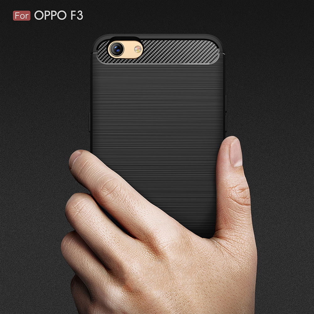 For OPPO F3 A77 Ultra thin Brushed Drawing Armor Silicone Gel Case Rubber Cover