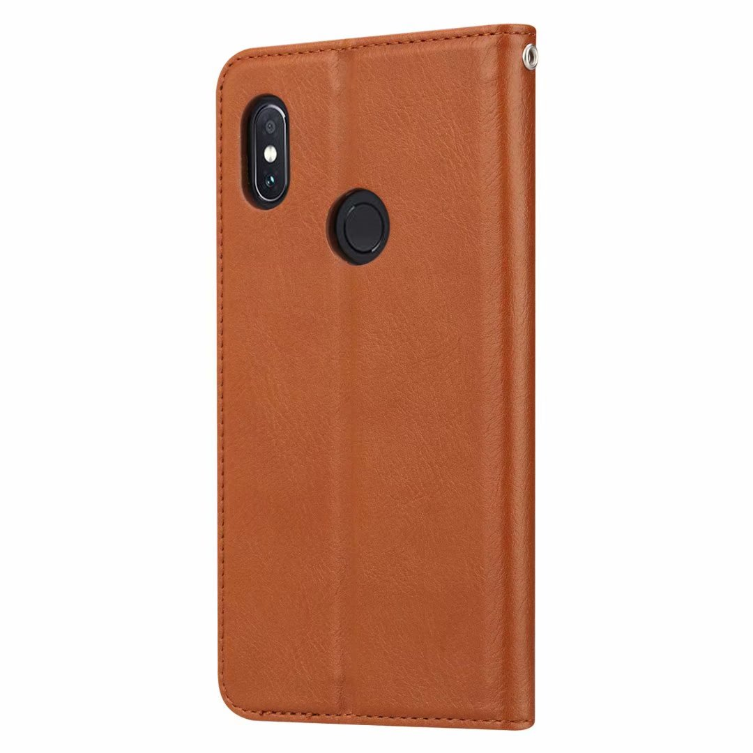 NEW-For Xiaomi Mi Max 3 Retro Flip PU Leather Wallet Soft Case Stand Cover Card