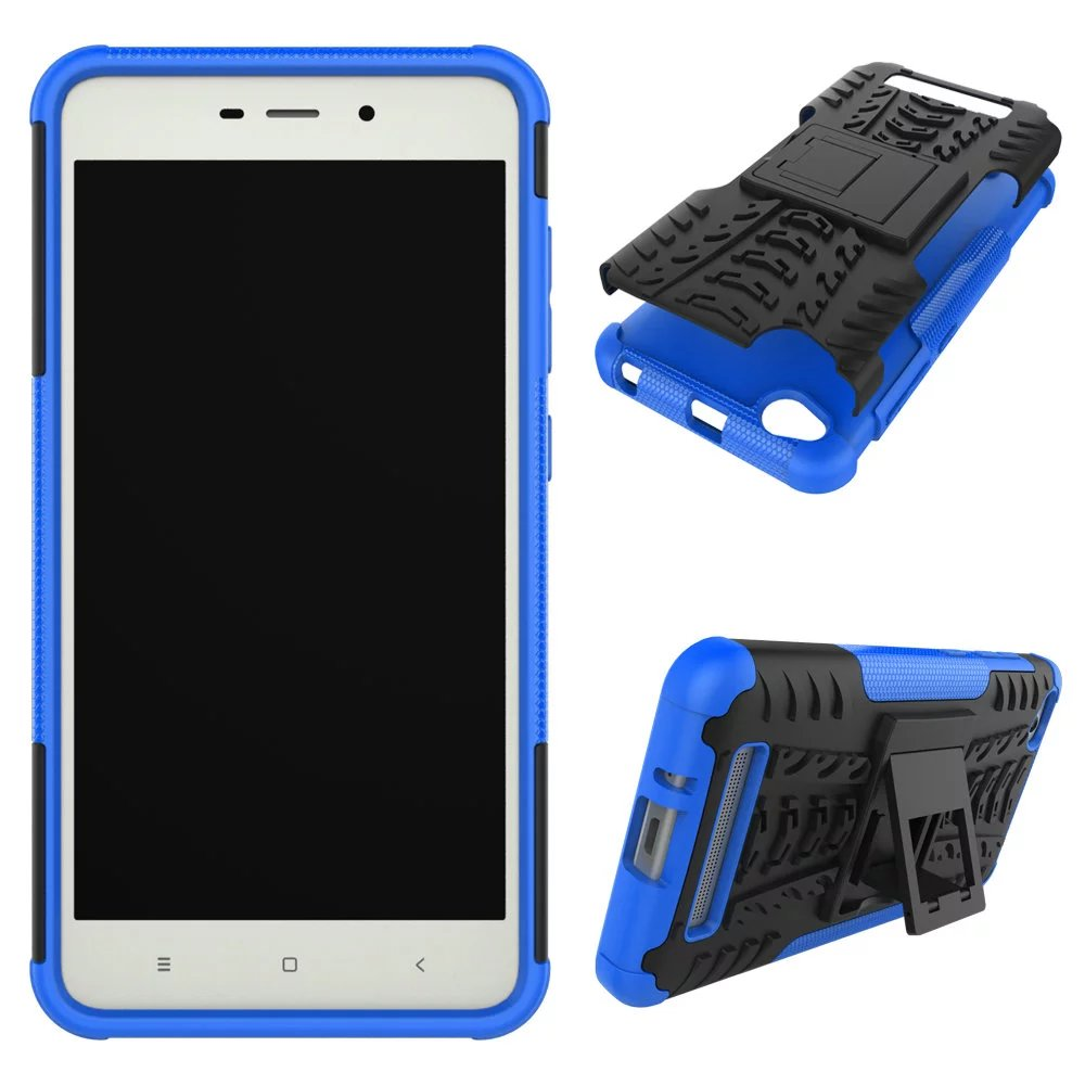 For Xiaomi Redmi 4ashockproof Rugged Hybrid Armor Soft Case Hard 4a Softcase Stand Cover