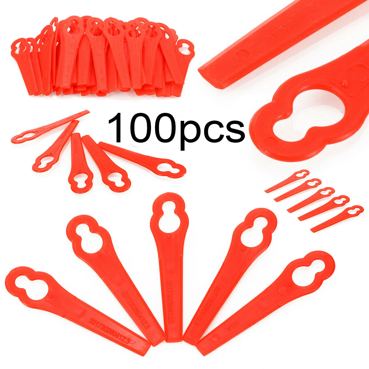 100er//Pack FRTA 20 A1 Kunststoffmesser Akku Rasentrimmer LIDL 10mm+5mm De