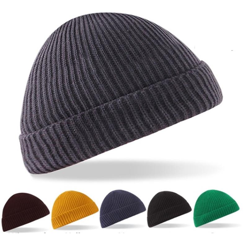 Unisex Men Women Beanie Hat Warm Ribbed Winter Turn Ski Fisherman Docker Hat EN