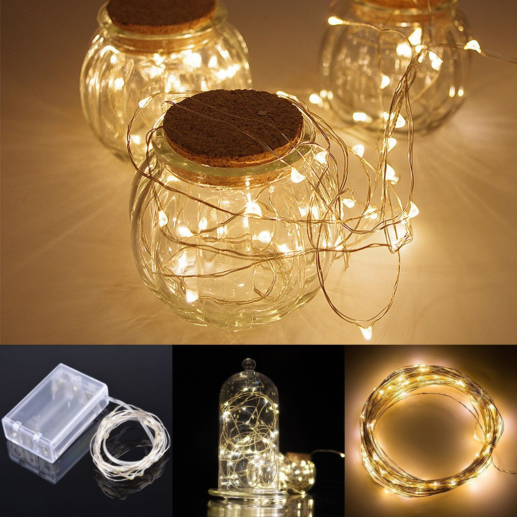 Details About 2m 20leds Battery Operated Mini Led Copper Wire String Fairy Lights Warm White L
