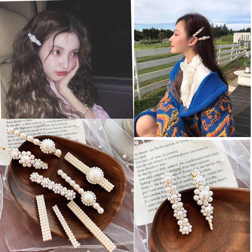Fashion Women Crystal Hairpin Stick Barrette Bobby Hair Clips Hair Accessories