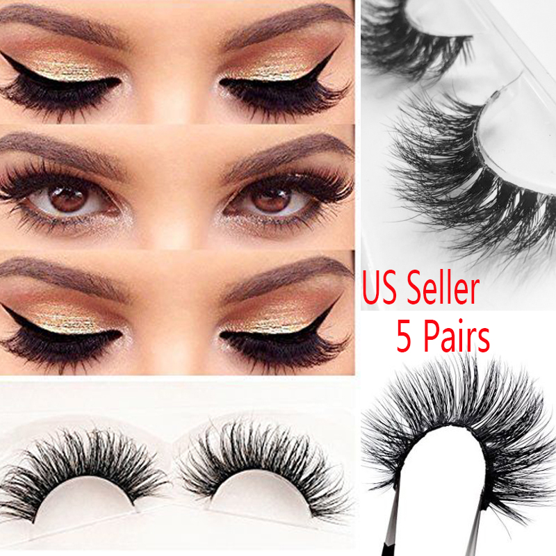 ef2ffbb78f7 Details about 5 Pairs SIBERIAN MINK FUR SOFT THICK 3D FALSE EYELASHES  NATURAL LONG LASHES Lot