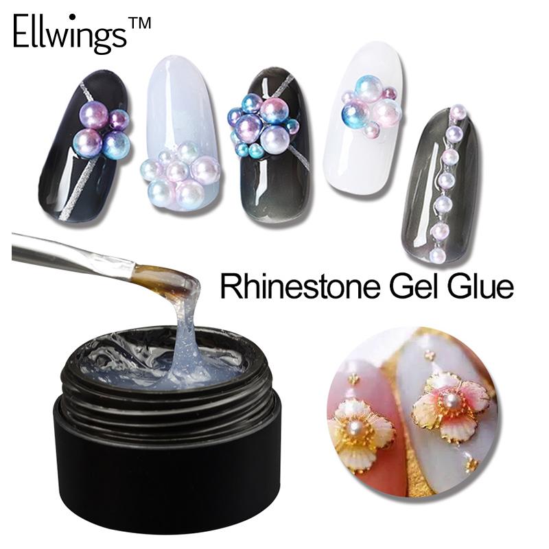 8ml Nail Art Glue Gel Super Adhesive Fits Rhinestone Foil Sticker