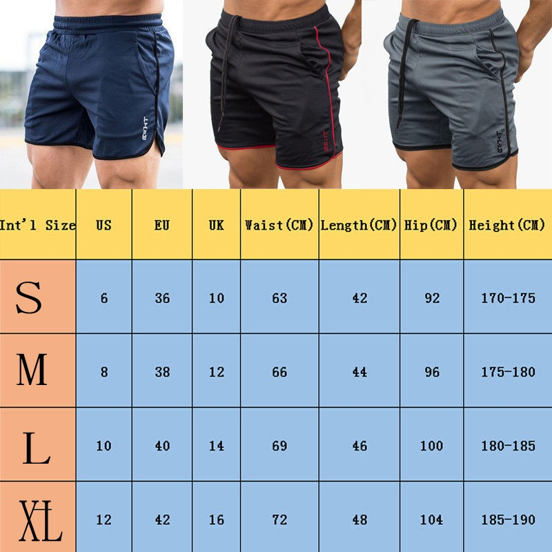 Men/'s Jogging Running Sports Shorts Breathable Gym Training Fitness Pants UK M L