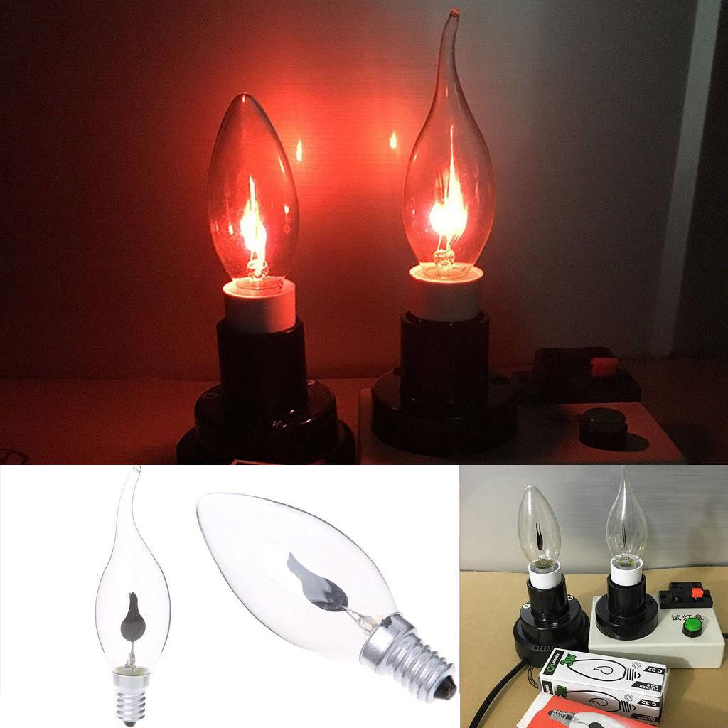 e14 e27 led light flicker fire flame bulb candle lamp home chandelier decoration ebay. Black Bedroom Furniture Sets. Home Design Ideas