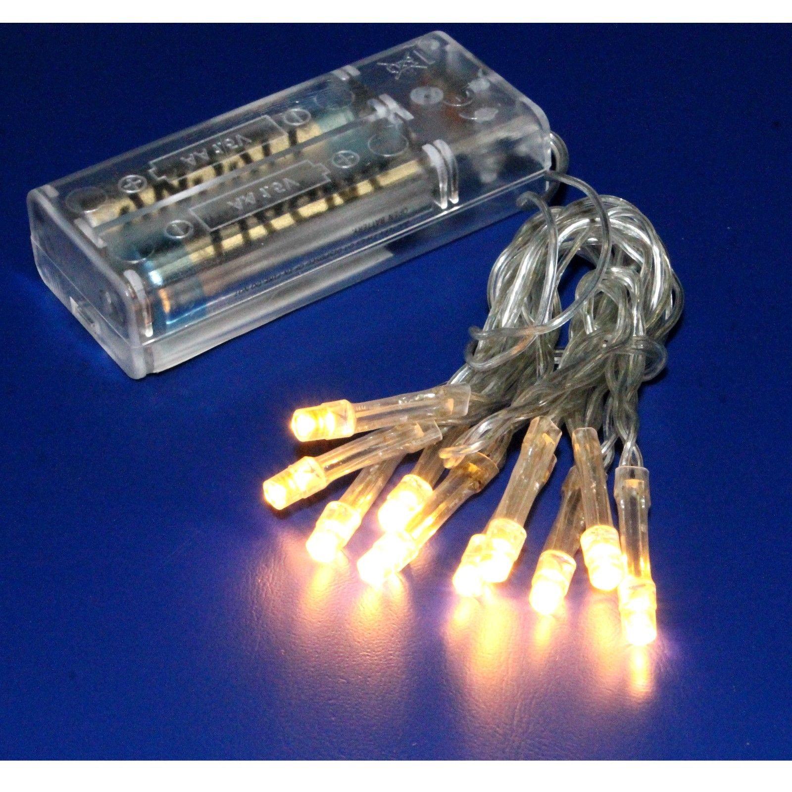 micro led draht lichterkette mit 10led warmwei batteriebetrieb tischdeko j c ebay. Black Bedroom Furniture Sets. Home Design Ideas