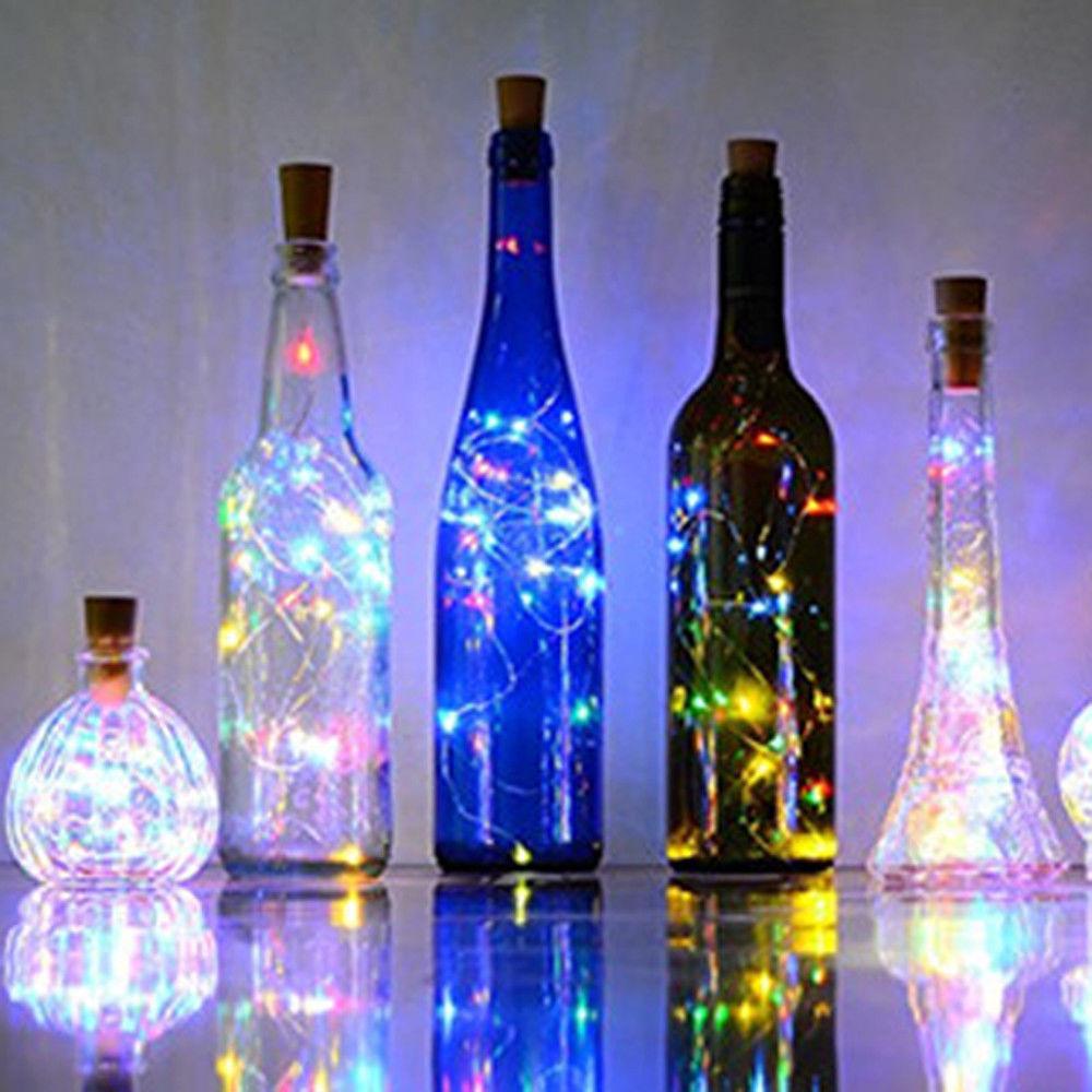 80cm 15 Led Buntes Licht Fee Flasche Kork Deko