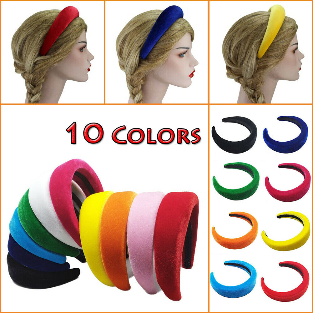 Velvet Hairband Accessories Headpiece Wide Women/'s Padded Hair Headband Hoop