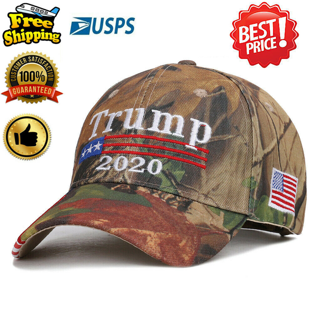 Donald Trump Embroidered Cap USA Flag Keep America Great MAGA Hat President 2020