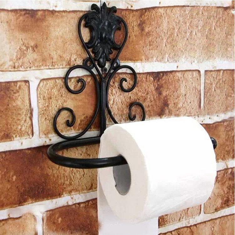 Vintage Iron Toilet Paper Towel Roll Holder Bathroom Wall Mount Rack Ebay