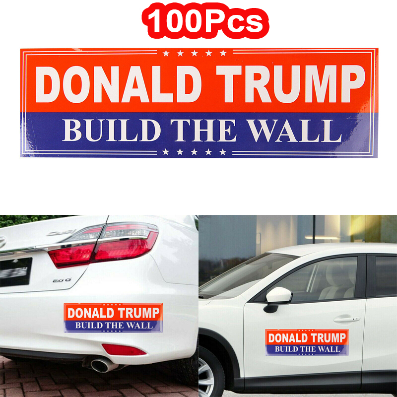 3 Donald Trump Build The Wall President MAGA USA Window Decal Bumper Stickers