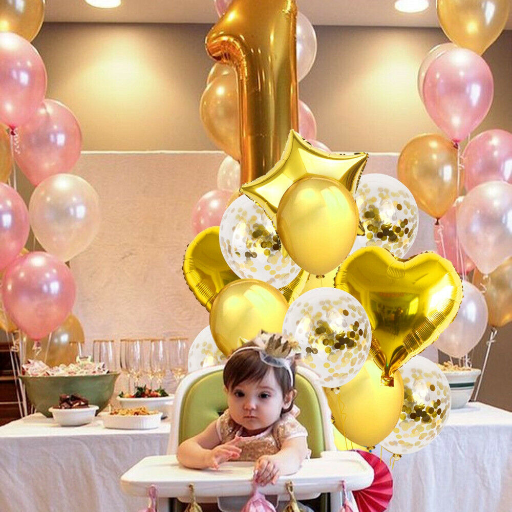 5x//Set Boy Girl Baby Shower Christening Foil Balloons Party Decoration KidsB WD