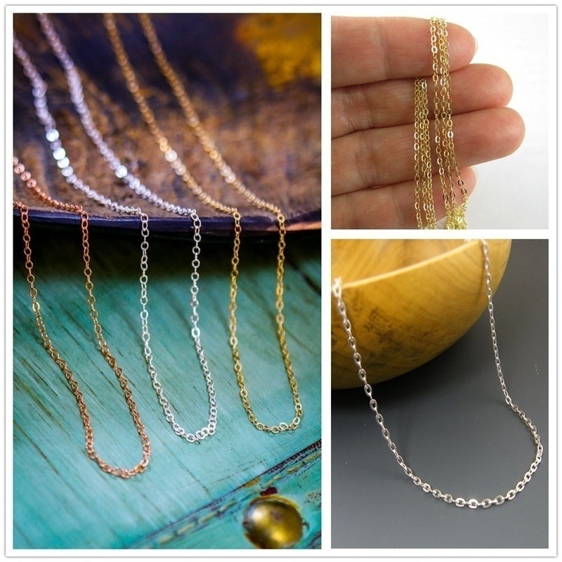 5m//100m Antique Silver//Golden Iron Curb Open Link Findings Metal Chain For Craft