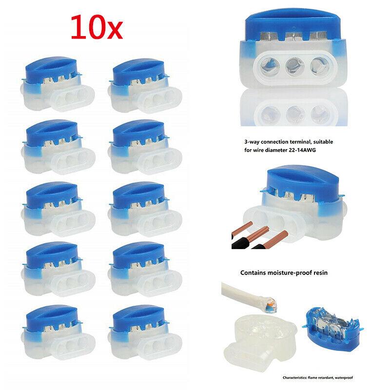 10x 314 Blue Wire Connectors For Automower Husqvarna Lawn