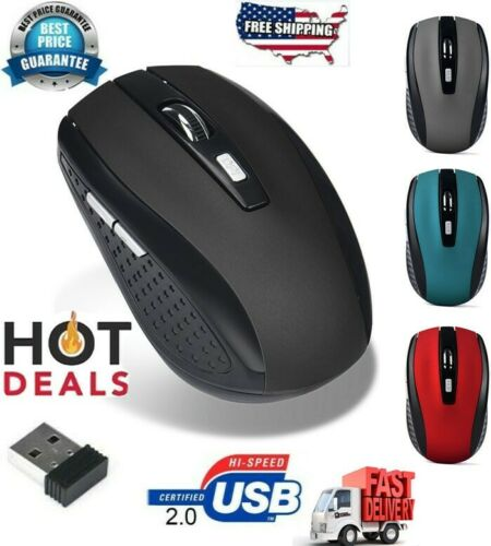 2.4Ghz Mini portable Wireless Optical Gaming Mouse For PC Laptop USB Receivers