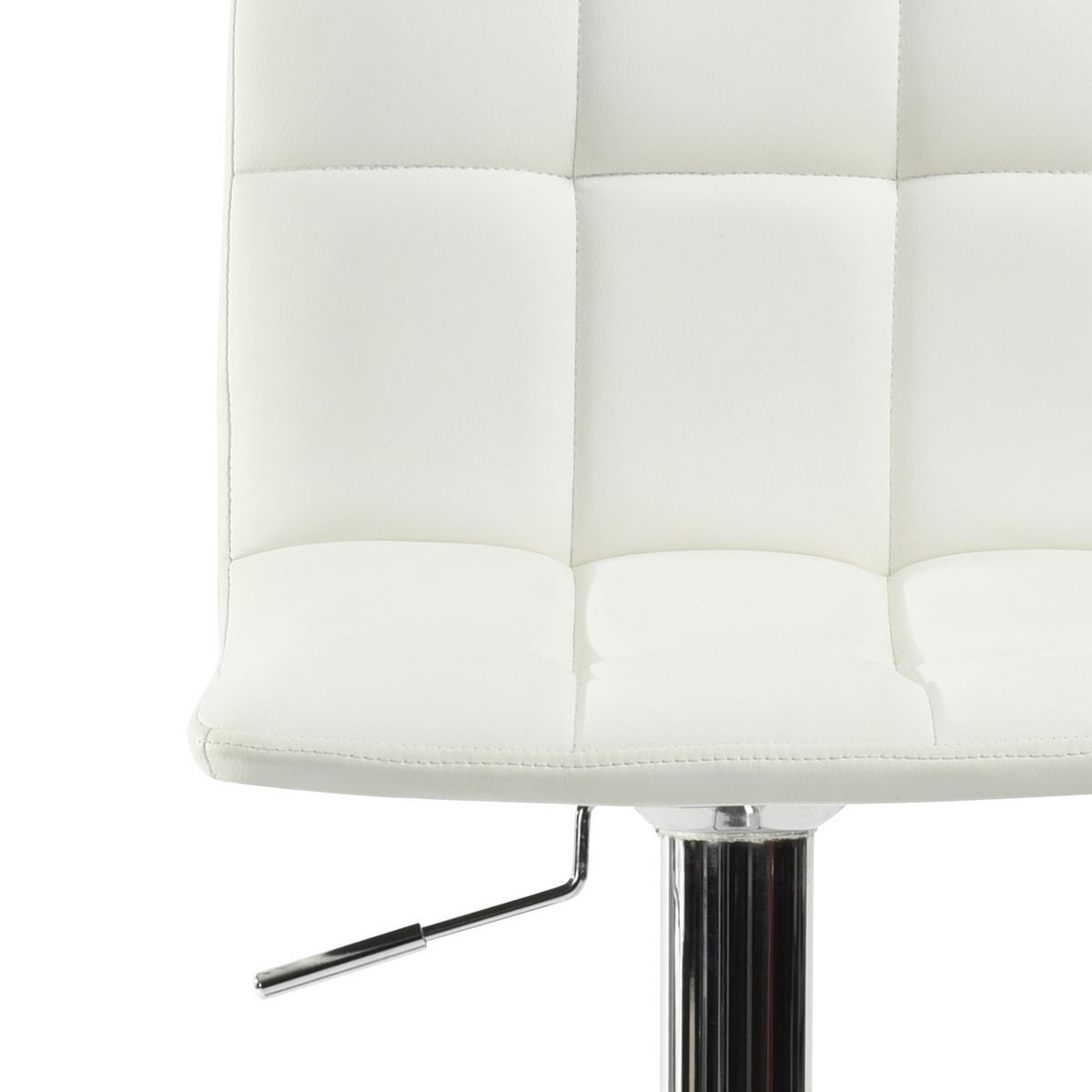 tabouret de bar contemporain simi noir m tal chrom repose. Black Bedroom Furniture Sets. Home Design Ideas
