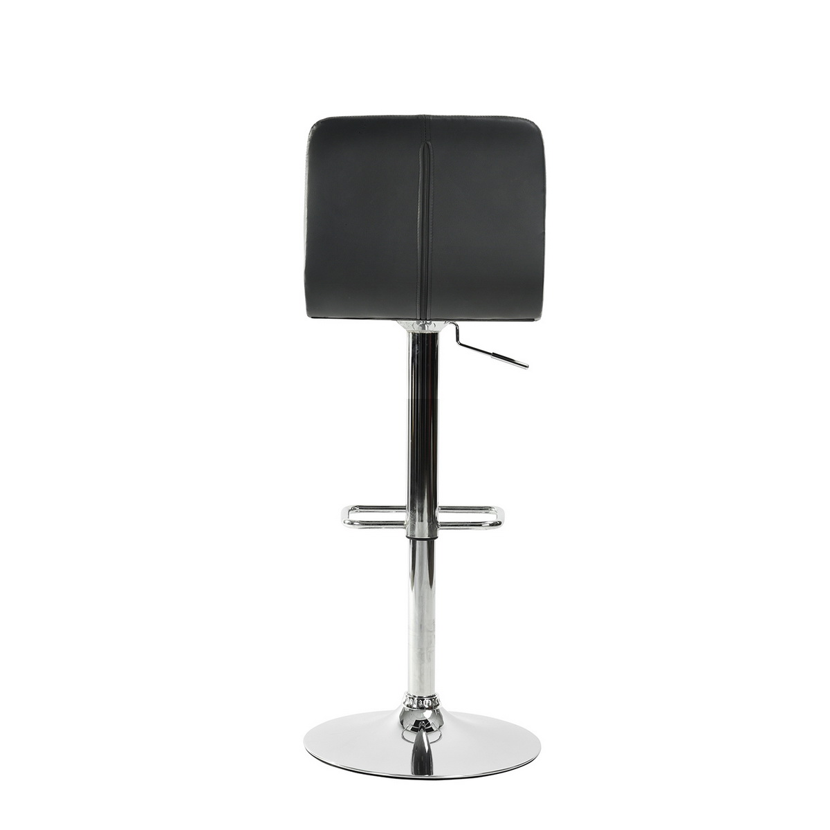 Tabouret de bar contemporain simi noir m tal chrom repose pied hauteur r glable ebay for Tabouret bar contemporain