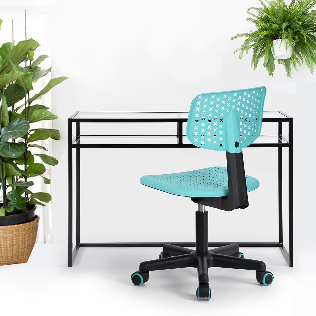 chaise de bureau fauteuil plastique hauteur r glable roulette 360 enfant adulte ebay. Black Bedroom Furniture Sets. Home Design Ideas
