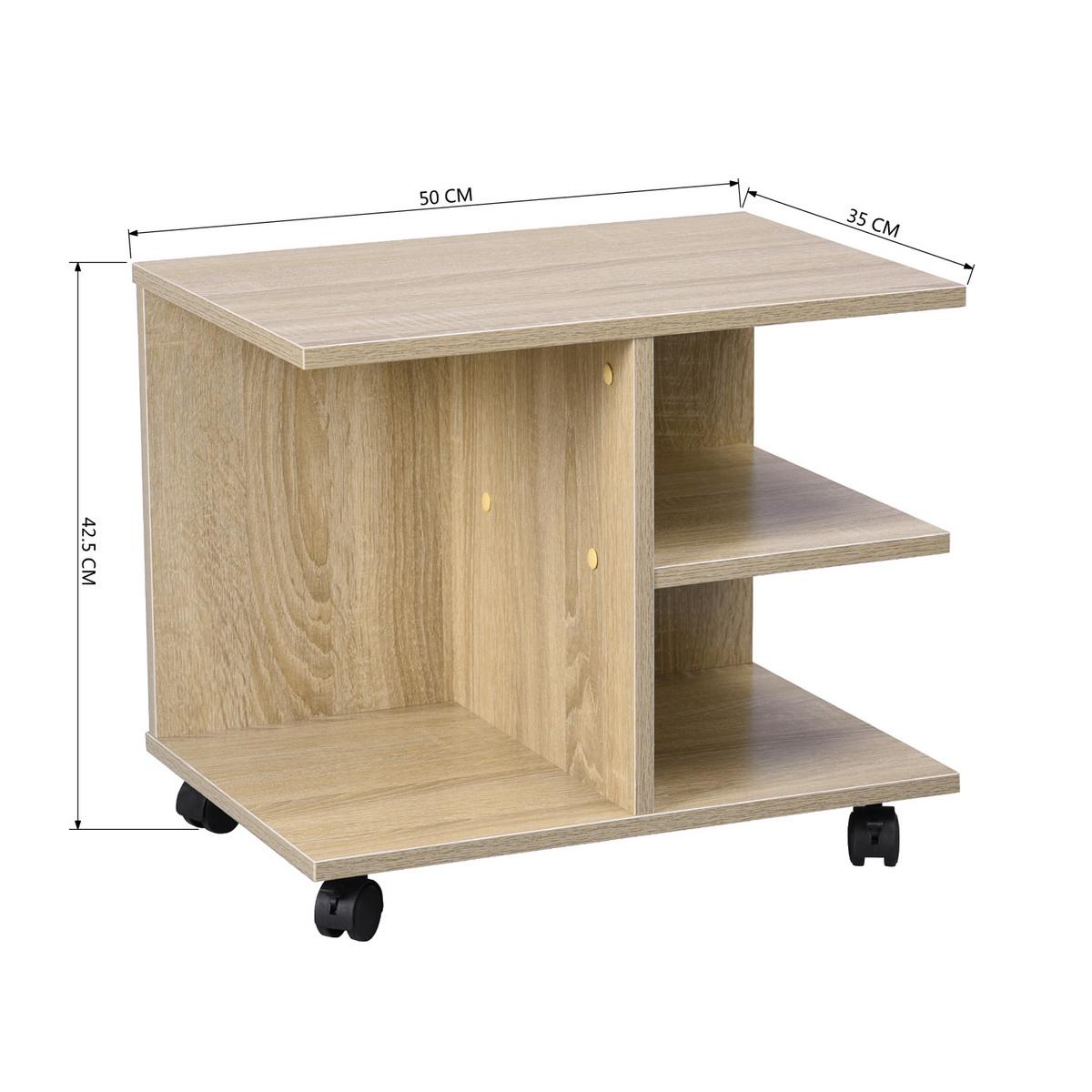 Meuble T L Tv Table Basse D Appoint Chevet Roulettes Etag Re  # Tablette Meuble Tv