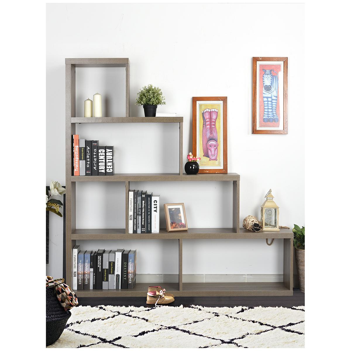 Etag re escalier biblioth que rangement 4 tages design - Meuble en forme d escalier ...