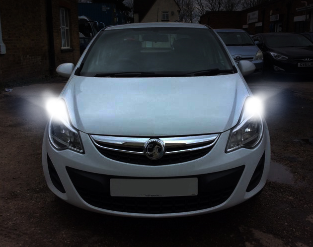 2x DRL For VAUXHALL ASTRA J DAY TIME RUNNING XENON WHITE BULB CORSA D ERROR FREE