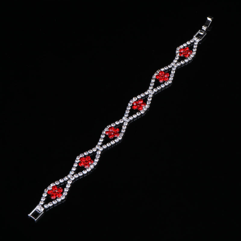 Fashion Sparkly Crystal Rhinestone Bangle Bracelet Women Wedding Prom Jewelry