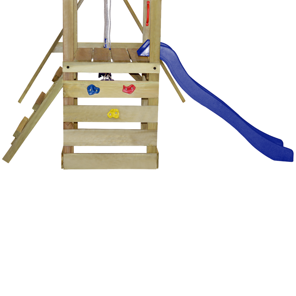 Kids Swing Playset Wooden Playground with Ladder Slide for Home ...