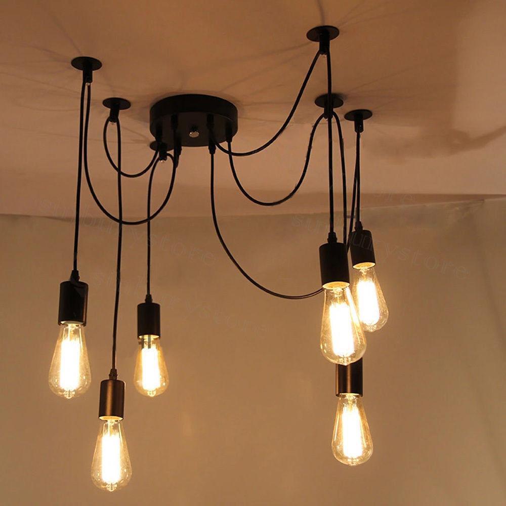 Vintage chandelier light pendant lamp fixture wbulb diy ceiling vintage chandelier light pendant lamp fixture wbulb diy ceiling spider lighting mozeypictures Choice Image
