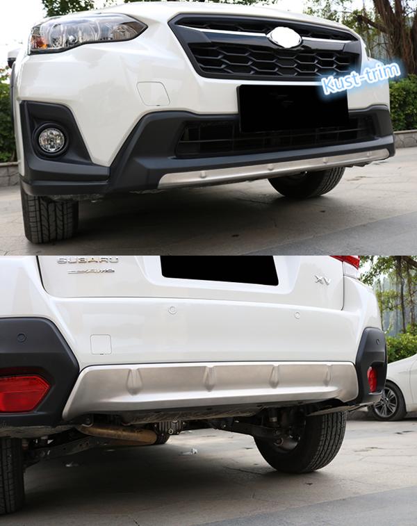 Detalles acerca de Para Subaru crosstrek XV 2018 2019 frontal +  antideslizante protector Protector de Parachoques Trasero 2PCS- mostrar  título