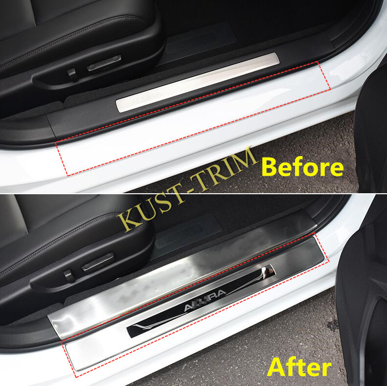 For 2016- 2018 Acura TLX Stainless Outer Side Door Sill