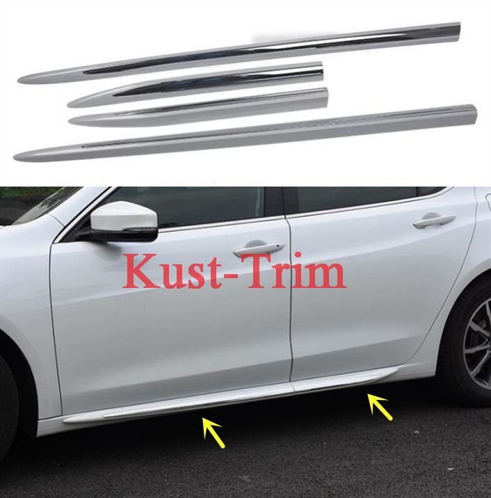 FIT For 2016- 2018 Acura TLX ABS Side Skirt Body Guard