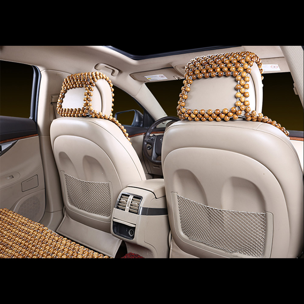 Item Description Summer Natural Wood Wooden Beaded Massage Car Truck Seat Cover Cool Cushion 2pc Specification