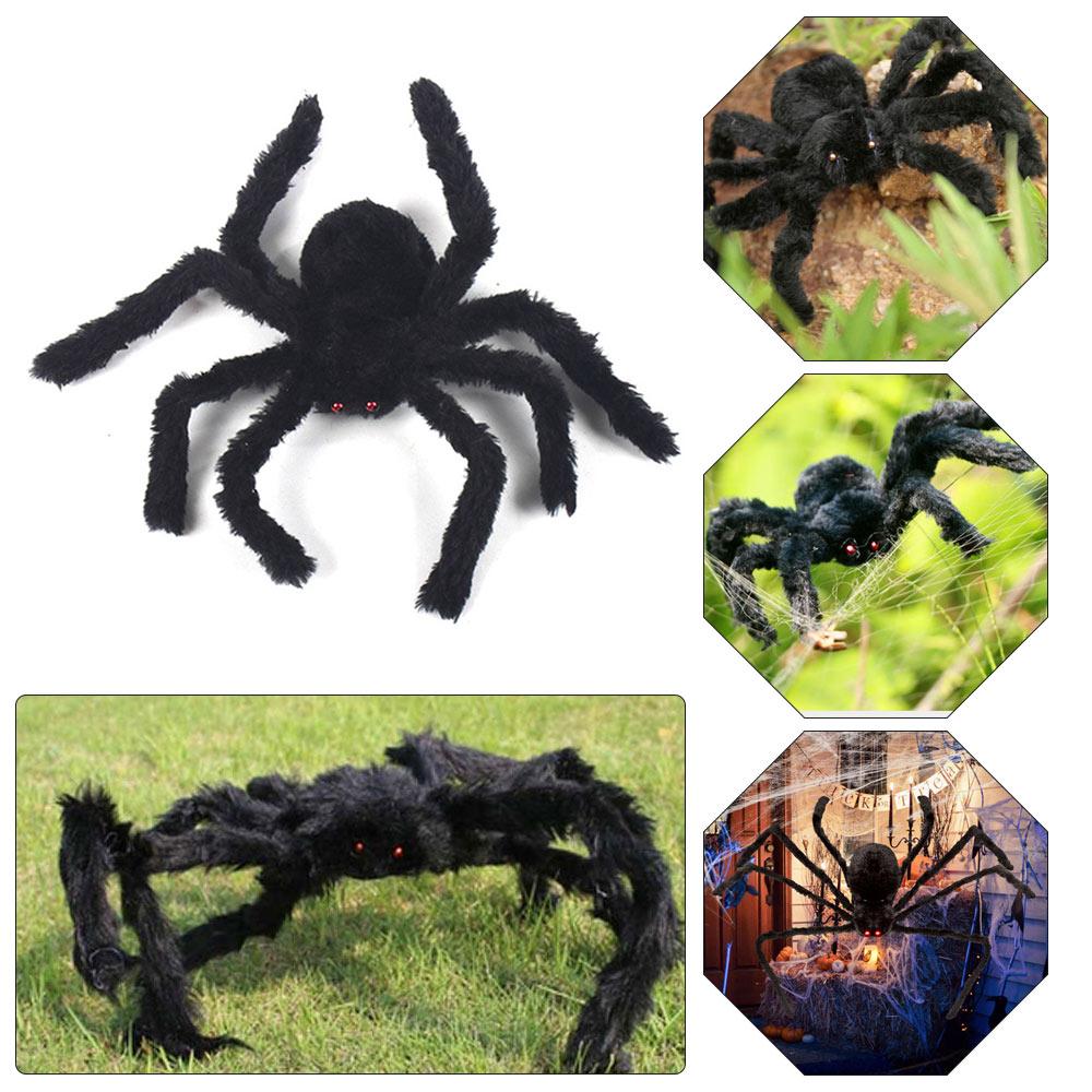 Halloween Realistic Hairy 29 Huge Spider Hanging Decor Outdoor Diy