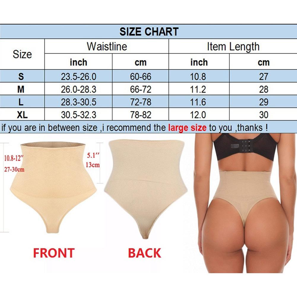 ac7df88cf Tummy Control Women High Waist Thong Body Shaper Butt Lifter Shapewear  Underwear