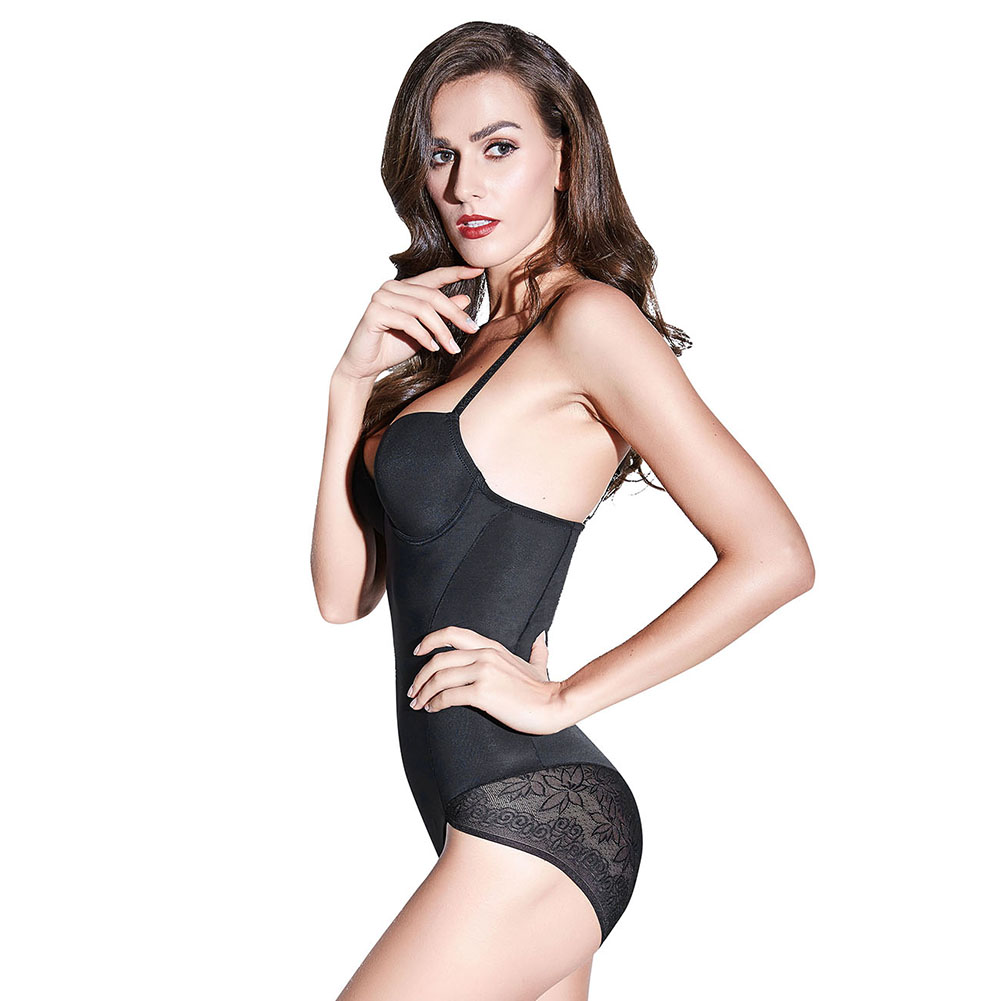 95a4c48870 Women Thong Full Body Shaper Bodysuit Waist Trainer Cincher Strap Slim  Shapewear