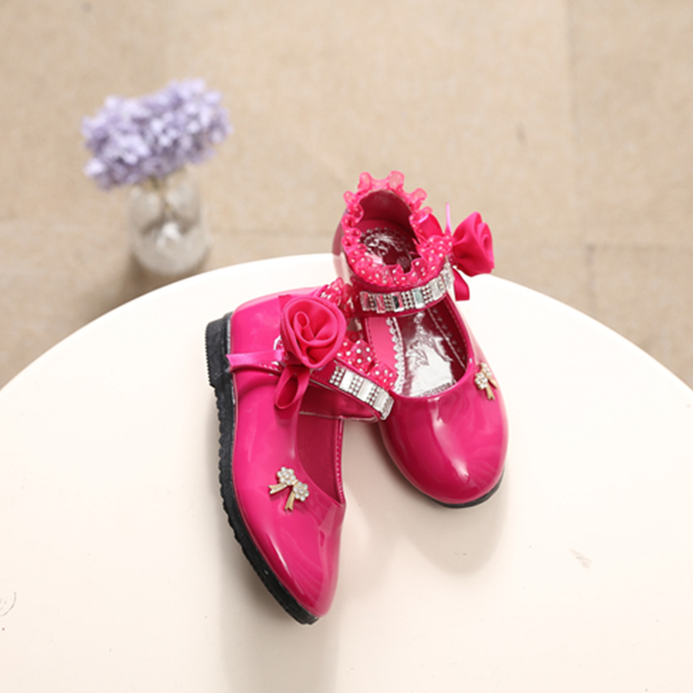 Toddler Kids Baby Shoes Children Girl Flower Shoes Fashion Princess Single Shoes