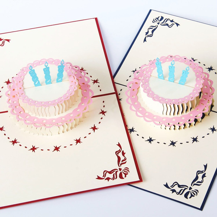 Details About 3D Pop Up Happy Birthday Big Cake Card DIY Anniversary Greeting Gift 56IN