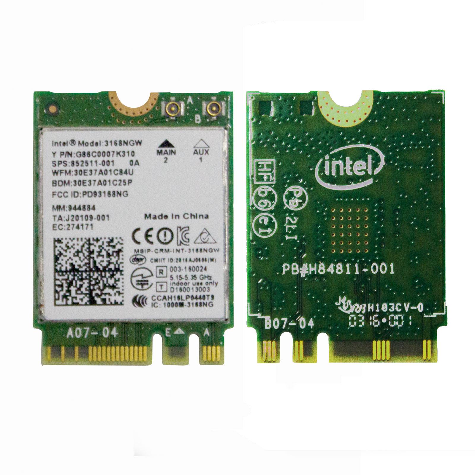 intel 3168ngw ngff m 2 wireless wifi bt 4 0 card 802 11ac 2 4 5ghz